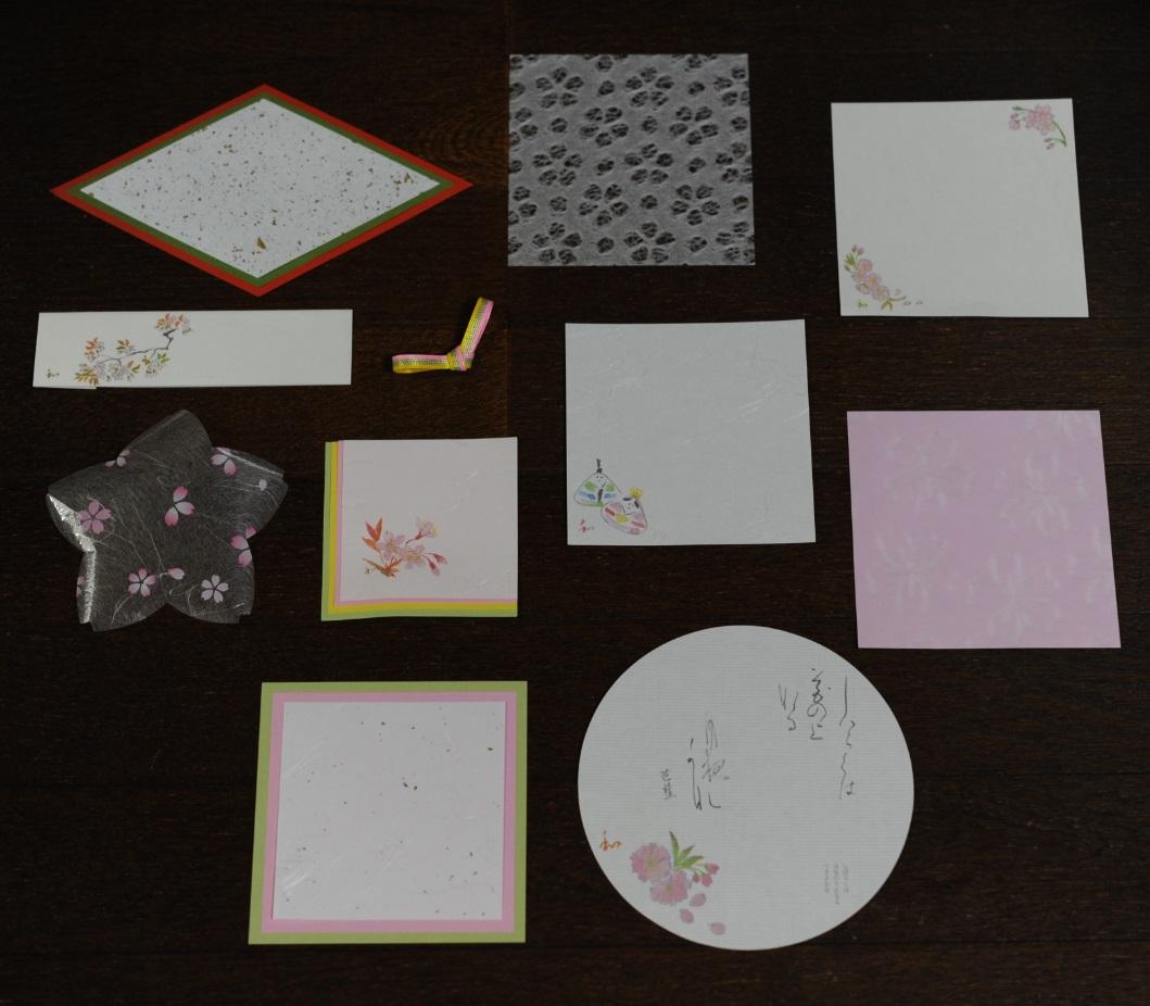 桃の節句、可愛い紙製品